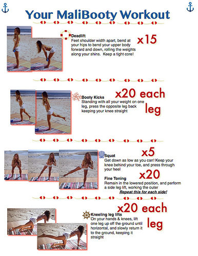 I absolutely LOVE how the Tone It Up girls include detailed descriptions on easily printable pages of their workout.